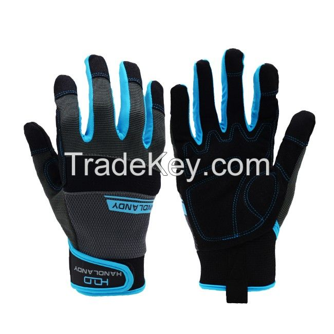 Wholesale Blue Powder Free Non-Medical Nitrile Gloves With High Quality Disposable NItrile gloves  For sell