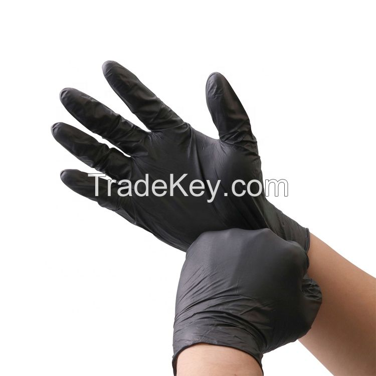 Latex Free Disposable Comfortable Medical Textured Finger Tips Food Safety Cleaning Safety Nitrile Coated Work Gloves
