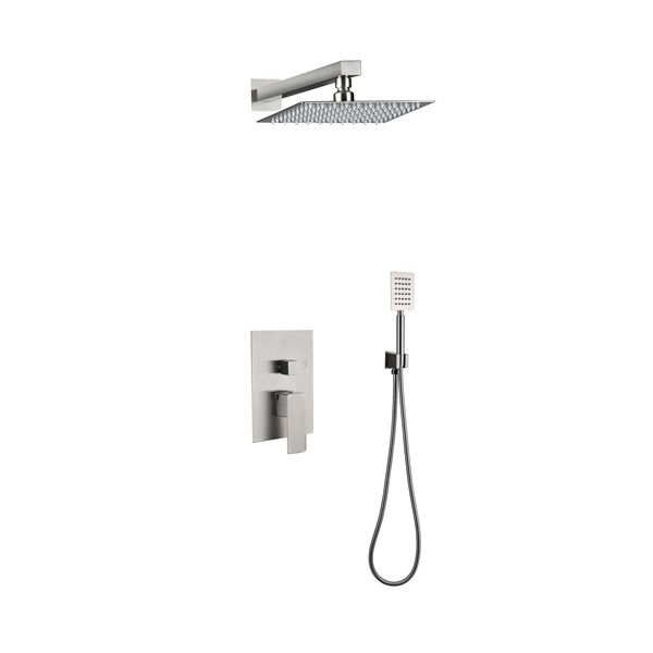 SUS304 Stainless Steel 304 in Wall Shower Faucet