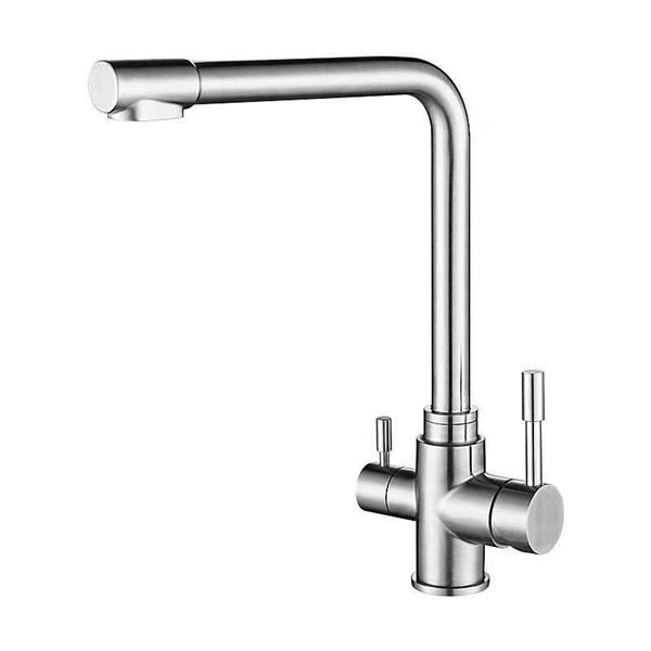 SUS304 Stainless Steel European Way Stainless Steel Kitchen Faucet