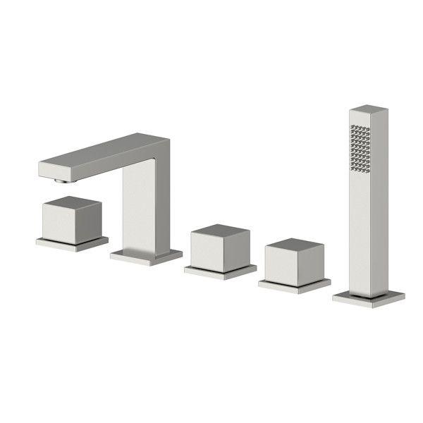 SUS304 Stainless Steel Singe Handle Deck Mounted Bathtub Shower Faucet