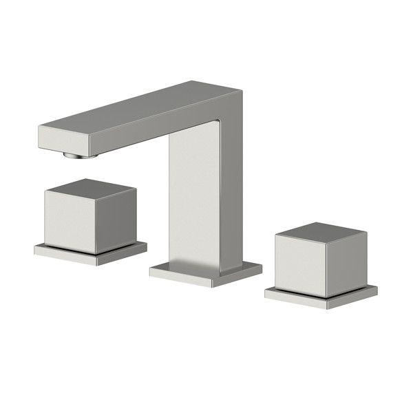 SUS304 Spread 3 Hole Double Handle Save Water Bathroom Basin Faucet