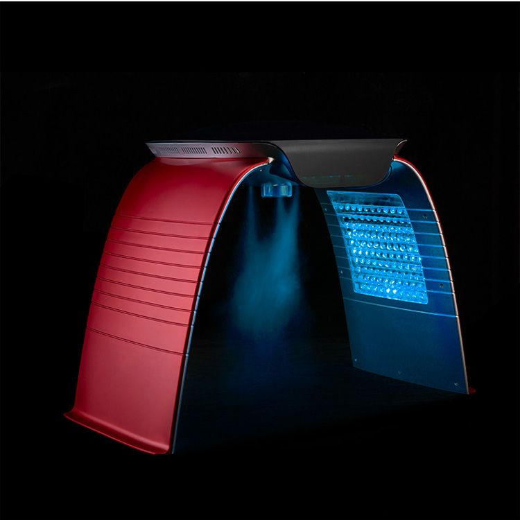 SA-PP04 7 colors PDT led light therapy machine with face spa spray ste