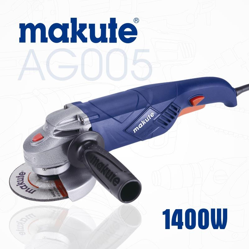 makute AG005 wholesale portable professional rechargeable stone 4inch 115mm 125mm electric angle grinder with variable speed