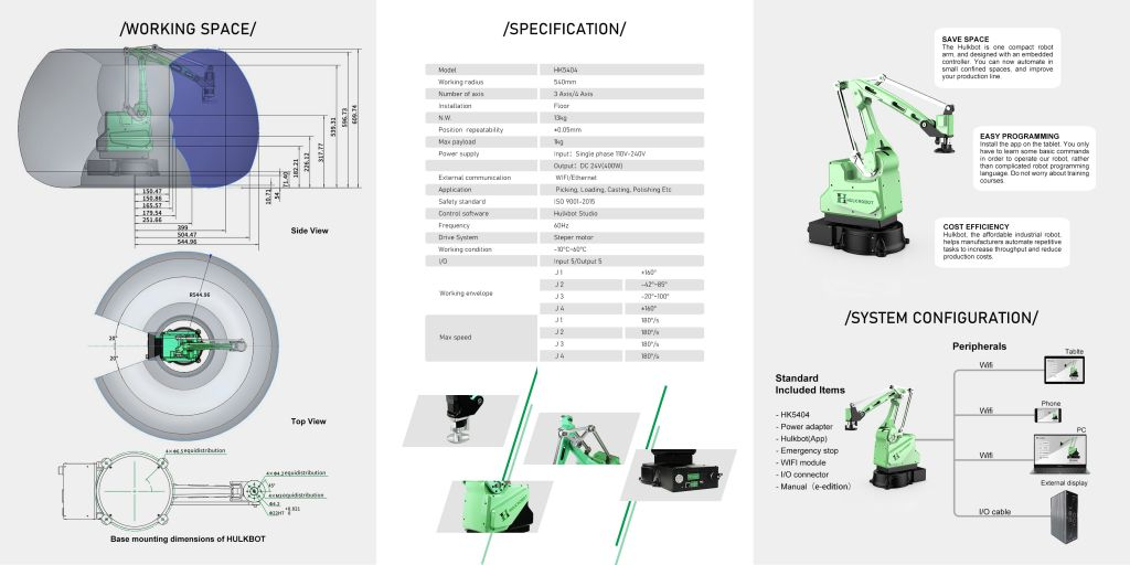 industrial automation system robotic arm 4 axis manipulator robot palletizer