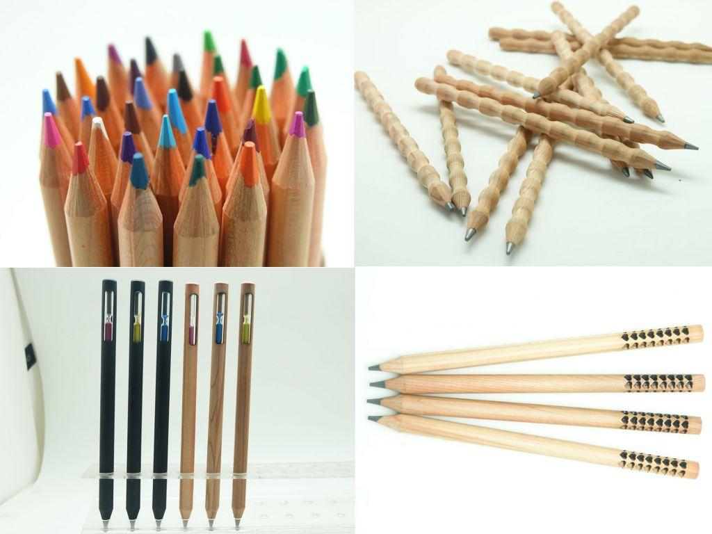 Black wood color pencils