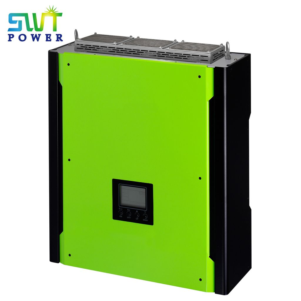 Triple Output Grid Tie Dc to Ac 2Mppt Hybrid Solar Inverter Three Phase 10kw