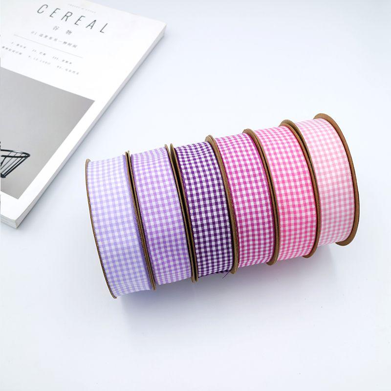 25mm High Quality Check Ribbon