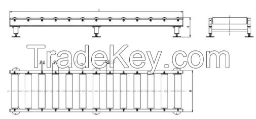 Bi-Chain Pallet Conveyor Powered Chain-Driven Conveyor Pallet Chain Driven Conveyor