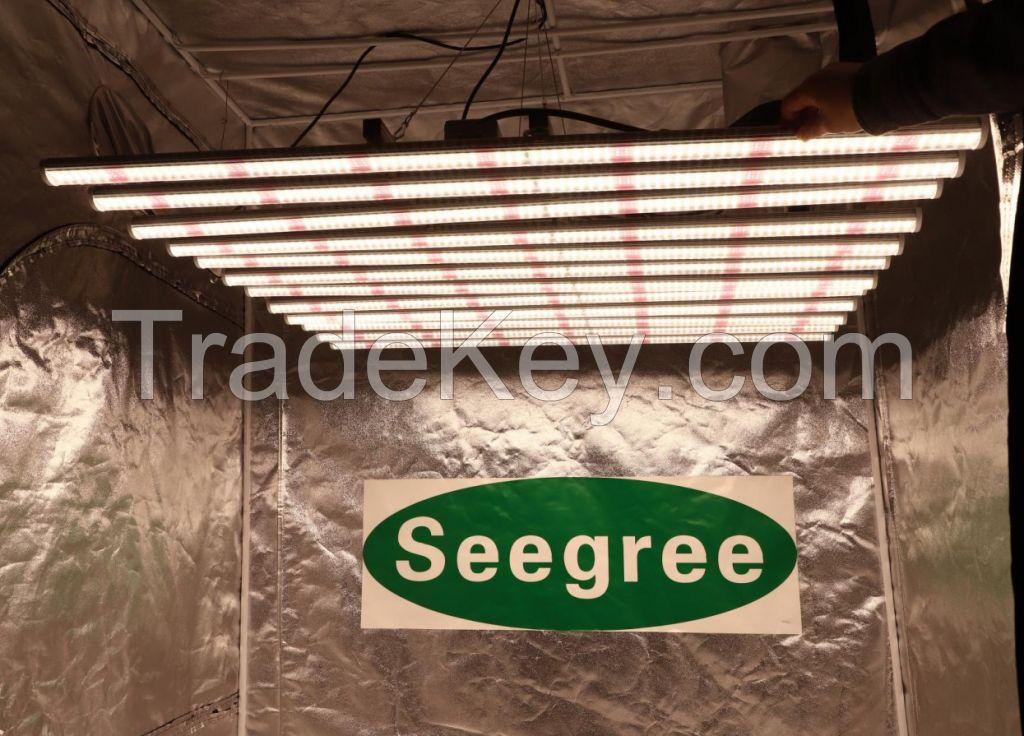 New design Samsung chips Spider fluence Full spectrum 800W LED Grow Bar for Medical Seeding plant