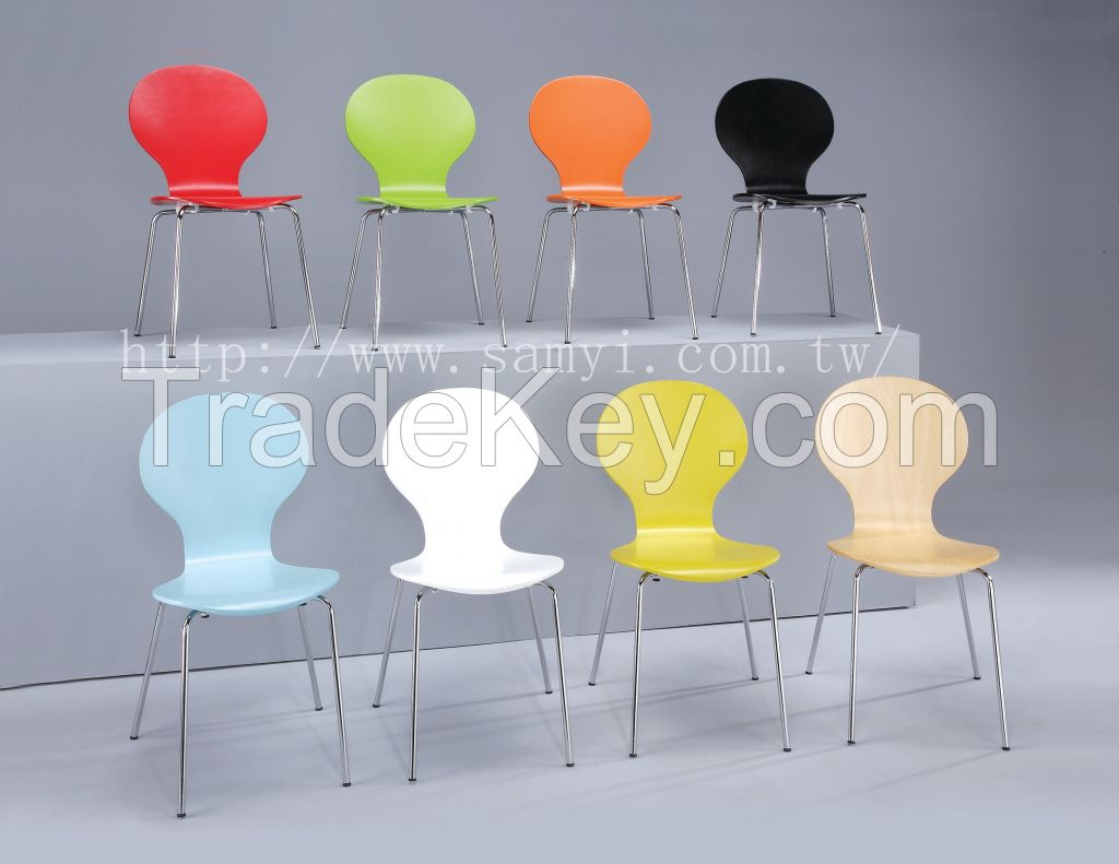 Dining Chair Leisure Chair Chair Wooden Chair Curved Wooden Chair