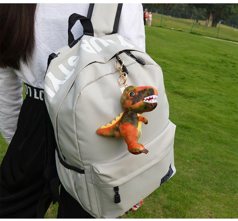 AYZTOY dyed flower Tyrannosaurus ins vibrato trend bag jewelry riding clothing leather key ring plush pendant toy
