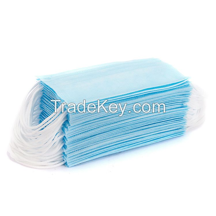 3-Ply Disposable Surgical Face Mask CE FDA Certified Blue Color, Non-Woven, with Ear Loop ASTM F1862 Level 2 EN 14683:2019 Type II