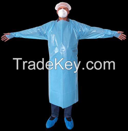 Thumb Hook Apron  (Disposable Medical Apron)