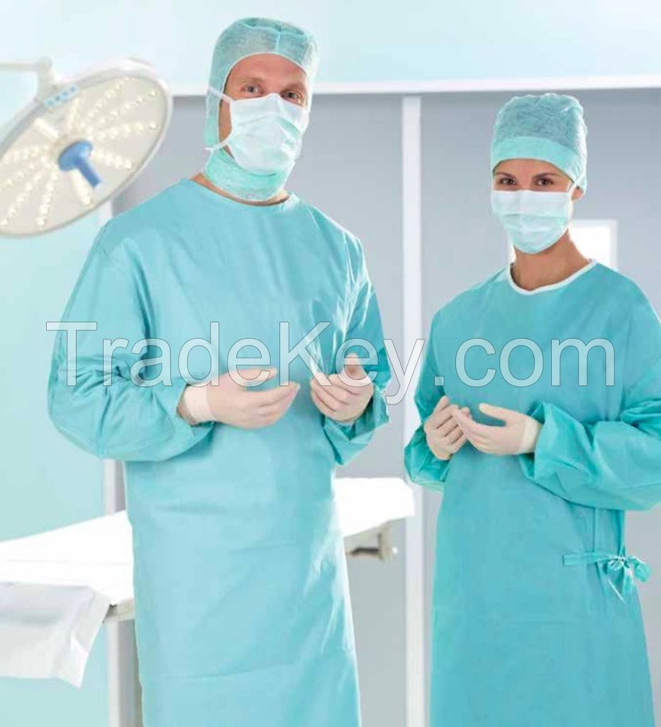 TOPMED factory supplier disposable reinforced surgical gown made in cleaning room