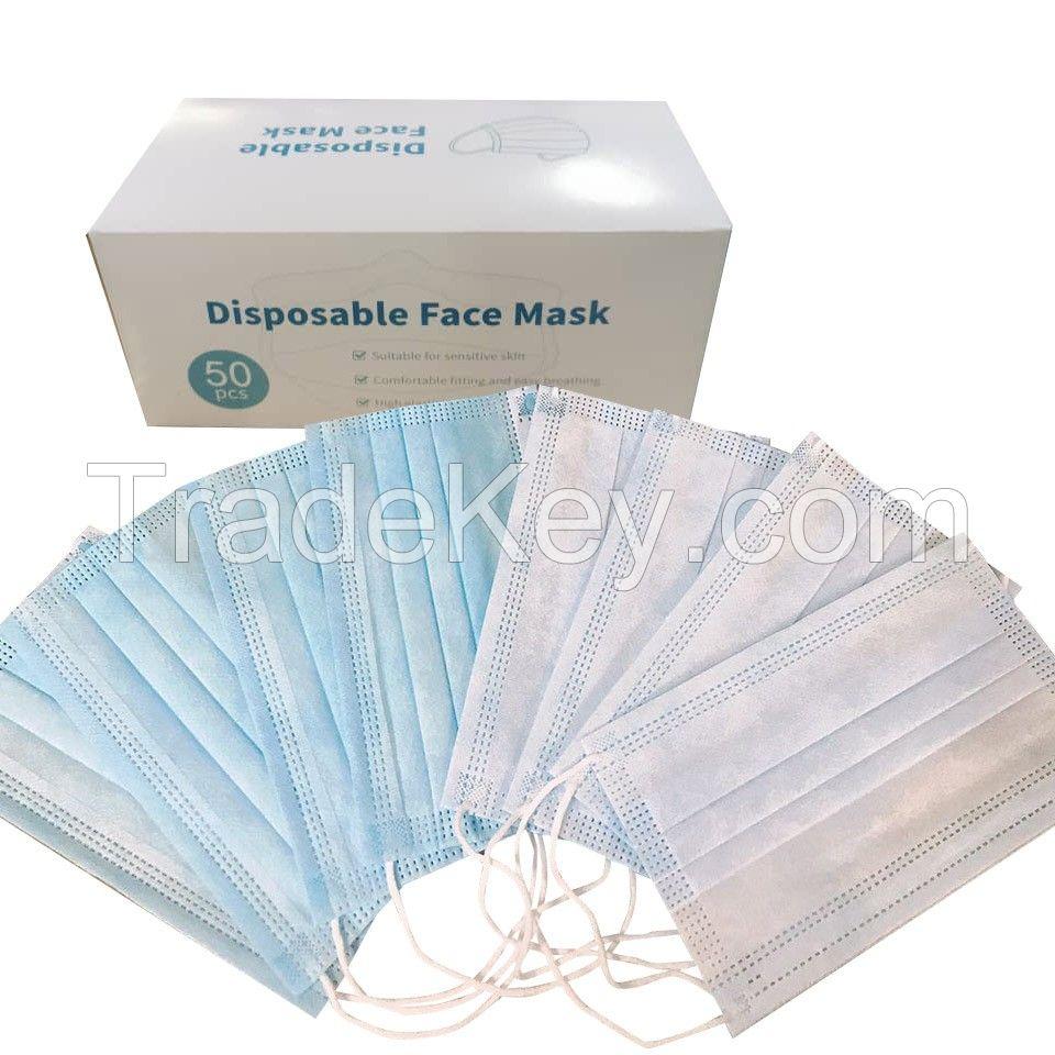 Aosen MedTech Anti Dust Disposable 17.5cm*9.5cm Size 3Ply Non-Woven Fabric Material Face Mask