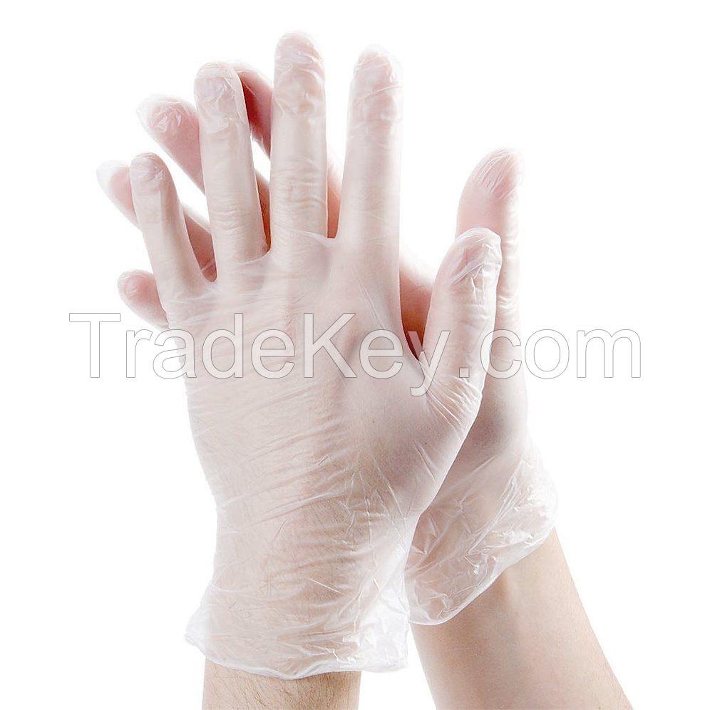 safety protective transparent vinyl disposable examination pvc gloves