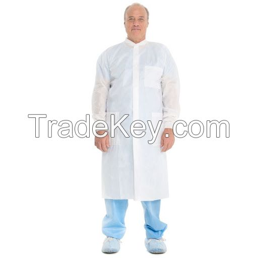 cheap lab gown white nonwoven medical non woven lab coat