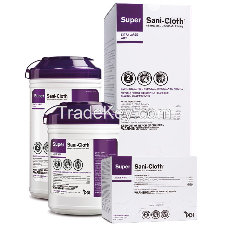 good quakity Super Sani Cloth Disinfectant Wipes Q55172 6 x 6 3 4 Inch