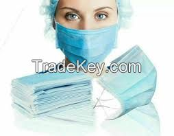 Blue 3ply Man Women Male Female FDA certificate 3 ply nonwoven disposable face mask for surgical mdecial