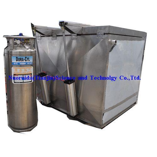 liquid nitrogen cold assembley equipment for roll