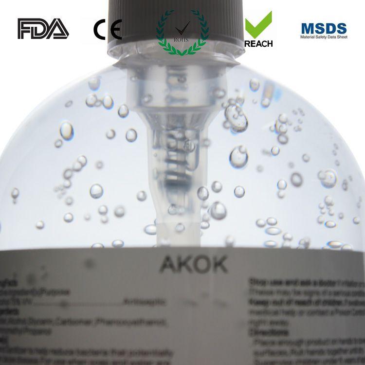 AKOK 500ml hand sanitizer gel with alcohol content 75% sanitising gel