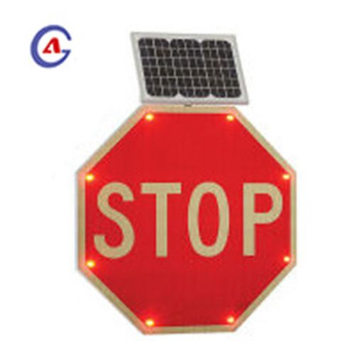 Light Control Solar Traffic Safety Stop Sign