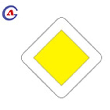 Traffic Warning Priority Road Sign