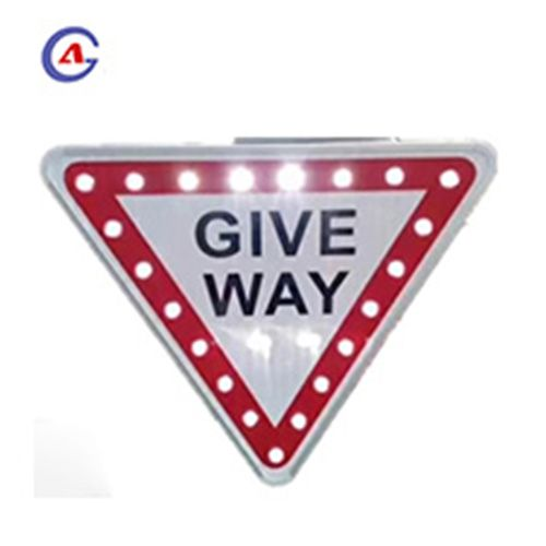 Light Control Traffic Safety Give Way Sign Board