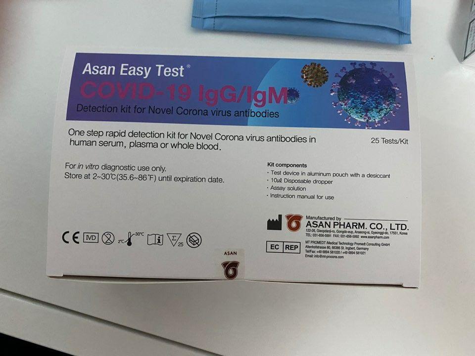 COVID-19 IgG/IgM Rapid Test Kit