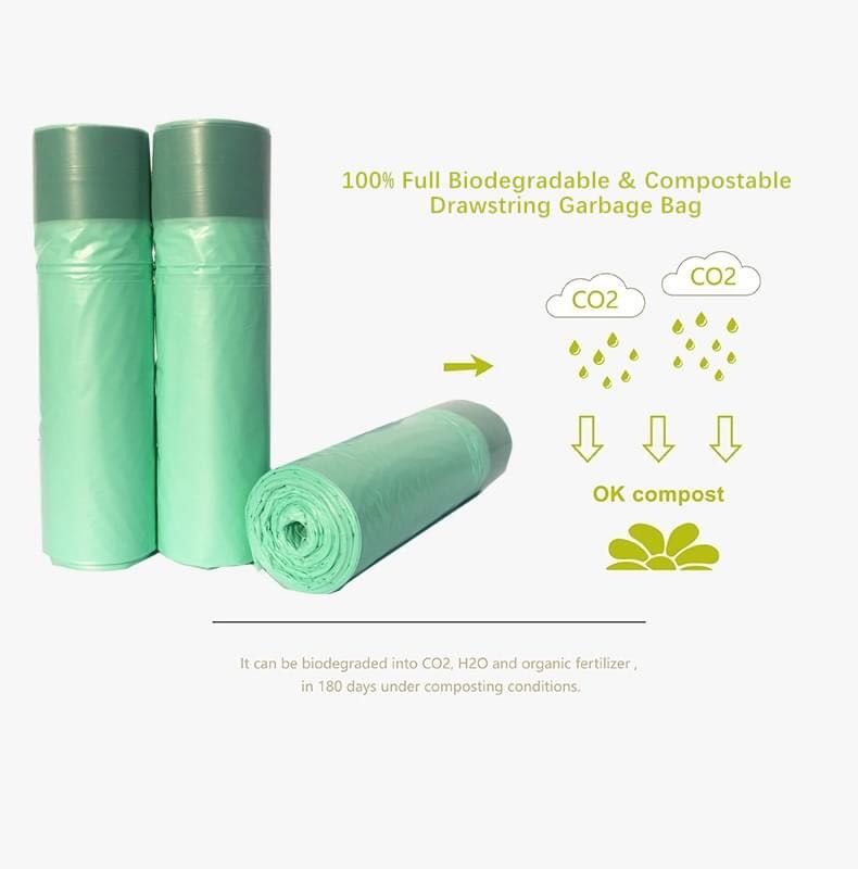 Biodegradable Drawstring Garbage Bag