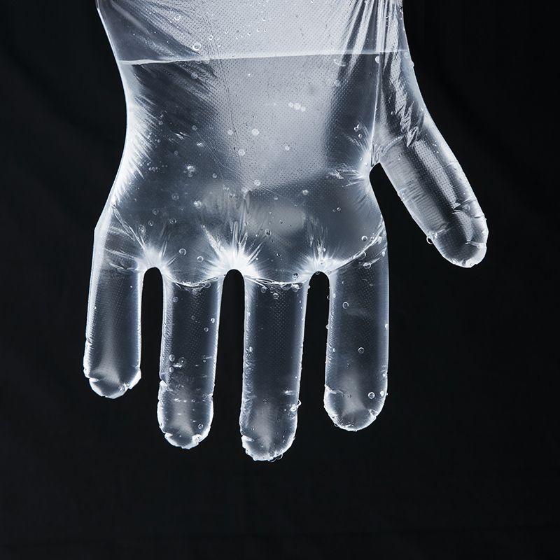 Disposable Transparent HDPE PE Plastic kitchen Gloves