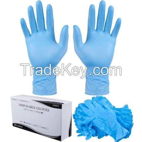 Quality Nitrile Hand Gloves/Blue Disposable Vinyl PVC Gloves