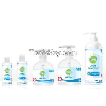 OEM 75% alcoholic antiseptic 60ML 100ML 300ML 500ML instant disinfecting alcohol hand sanitizer gel