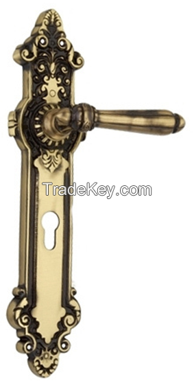 Stylish Brass Door Lock Handle