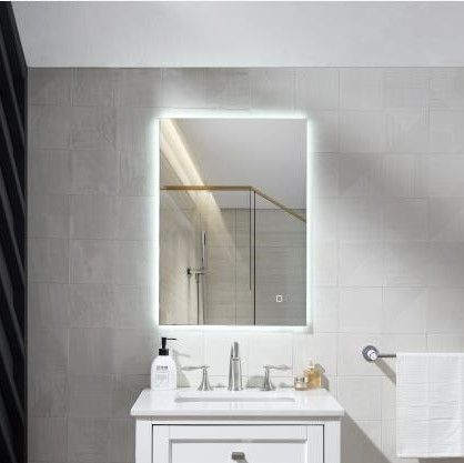 USB Wifi light vanity hotel Bathroom cabinet frameless Mirror