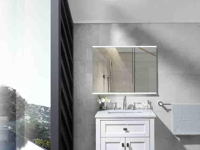 2020 news frame Makeup bluetooth illuminated bath mirror wall mounted