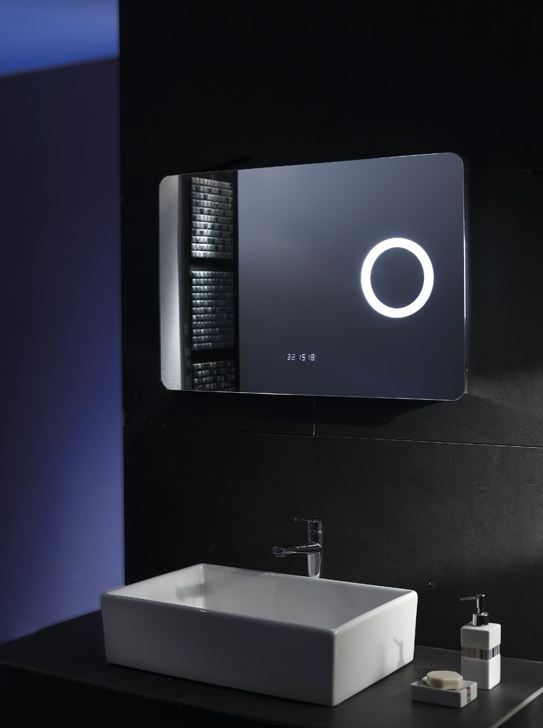 Full Frame Makeup bluetooth Magnifying bath mirror wall mounted