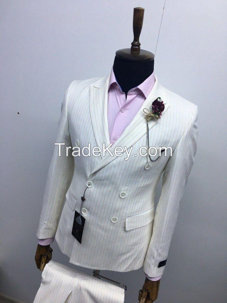 Double breasted suit slim fit