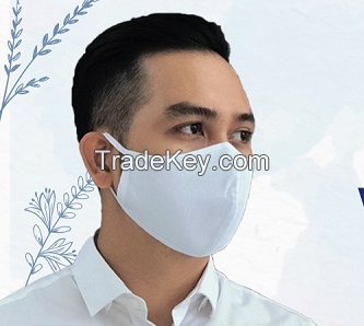 Pink cute anti dust cotton mouth mask customized printed washable made in Vietnam