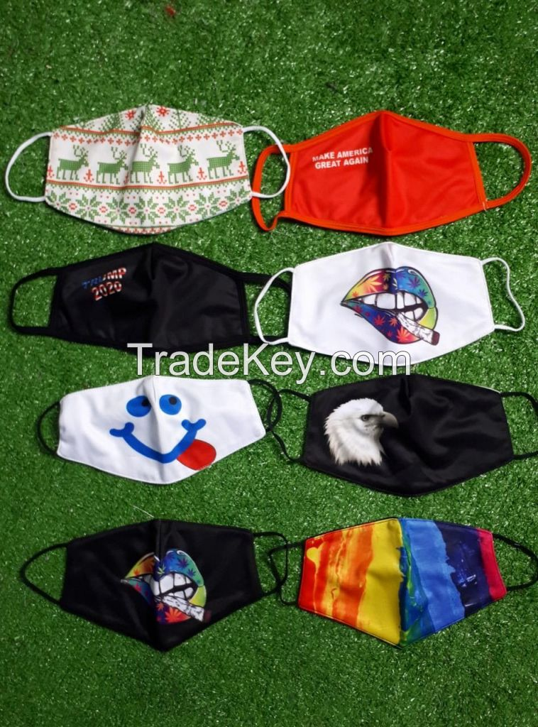 2020 hot sales cotton face mask with good quality printing made in Vietnam
