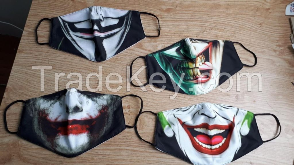 2020 hot sales cotton face mask with good printing made in Vietnam
