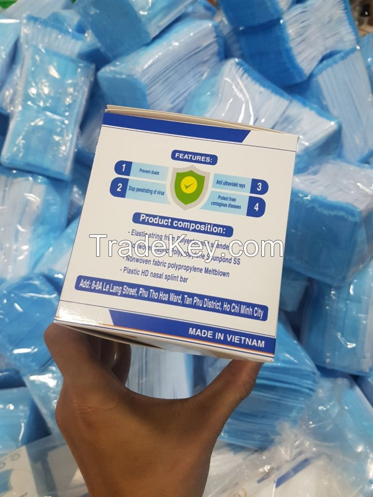 Mouth Respirators 3 ply Disposable Medical Face Mask