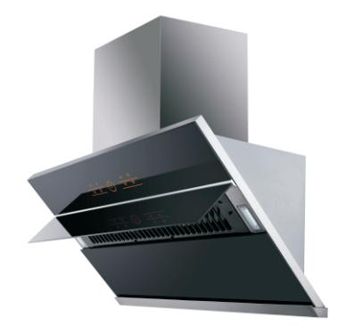 Fashion orange O-touch control kitchen commercial range hood