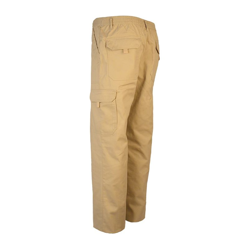 Fashion Men's Stretch Cotton Beige Colours Long Cargo Pants