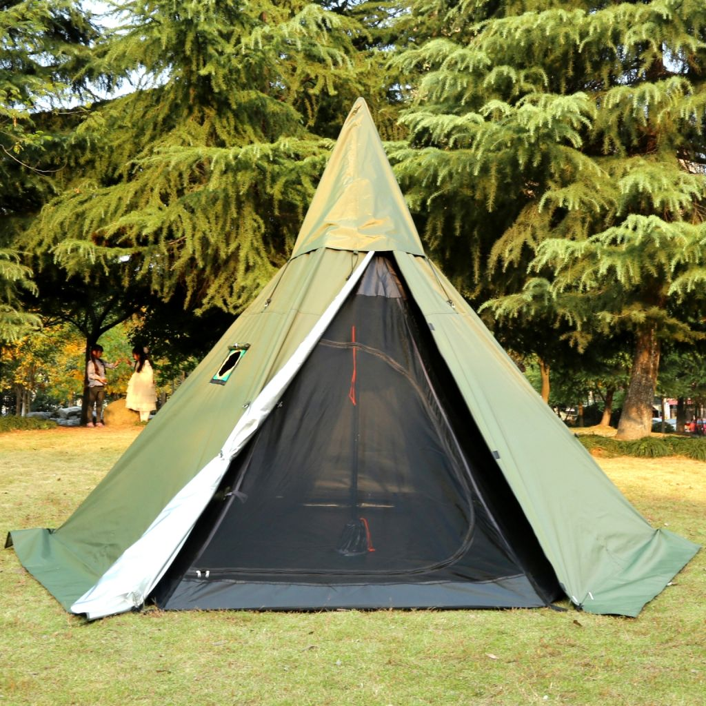 Camping Hot Tent With Stove Jack For 1-2/3-4/5-6 Person Pomoly
