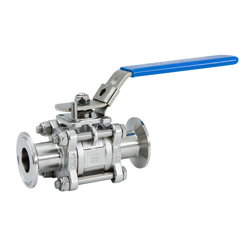 SS304/SS316L Sanitary Stainless Steel 3PCS Butt Thread Ball Valve