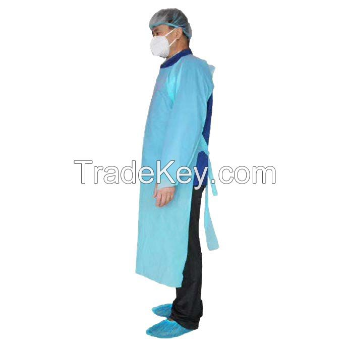 Protective gown with sleeves
