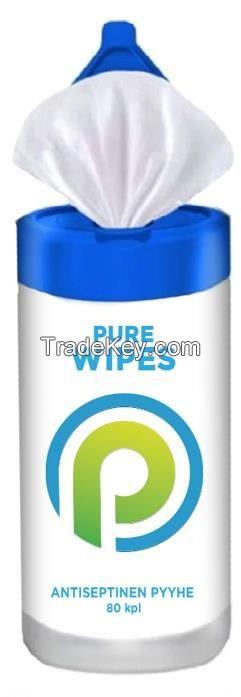 PURE Antiseptic Wipes / 80 pcs per box