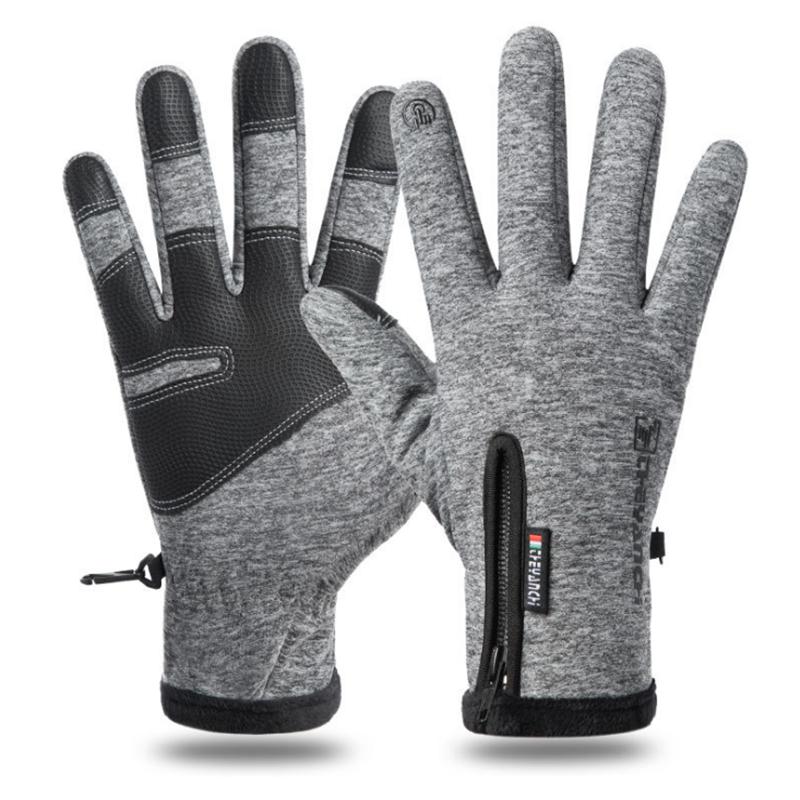 Warm touch screen touch screen zipper gloves
